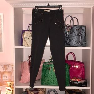 Zara gray jeans with zippers